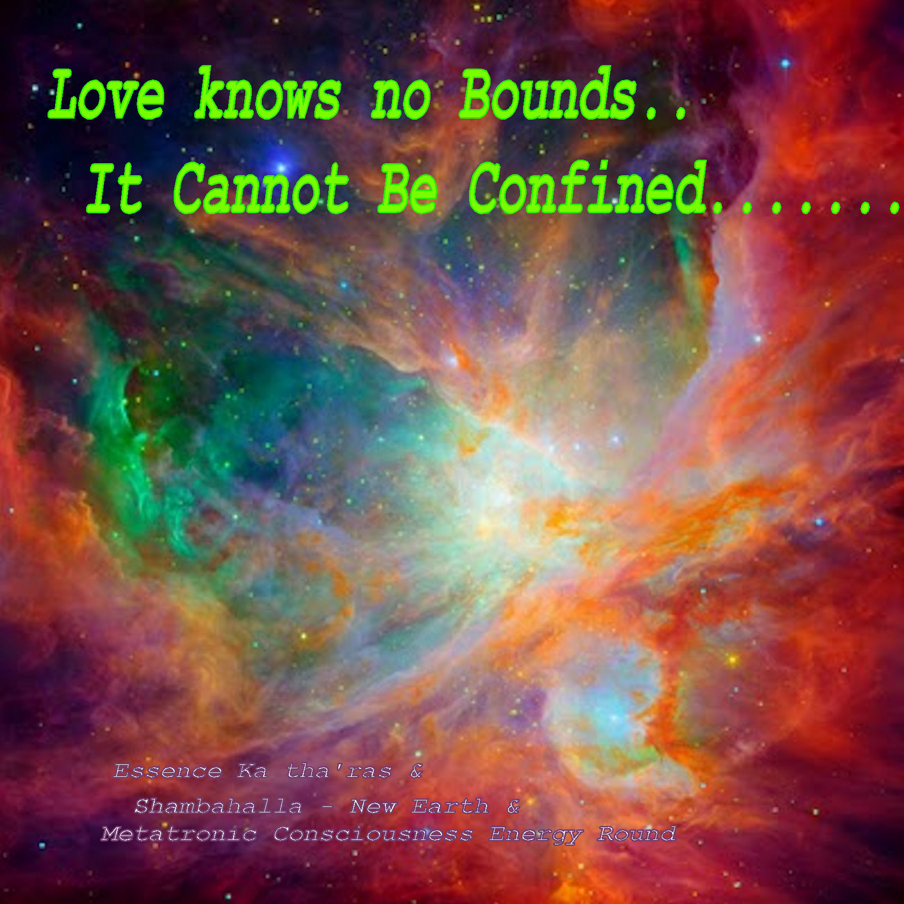 Love Knows No Bounds It Cannot Be Confined