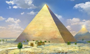 Artist rendition of the Great Pyramid of Giza