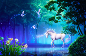 Beautiful_Fantasy_Wallpaper_Unicorn_in_Fairy_Forest