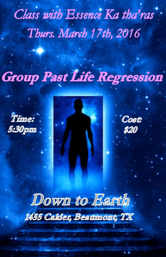 Past Life Regression March 2016